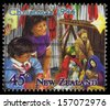 NEW ZEALAND - CIRCA 1994: A stamp printed in New Zealand shows celebrating Christmas Noel, circa 1994 - stock photo
