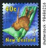 NEW ZEALAND - CIRCA 2000: stamp printed by New Zealand, shows Inflatable beach cushion, circa 2000 - stock photo