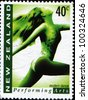 NEW ZEALAND - CIRCA 1998:  Stamps printed in New Zealand dedicated modern dance, perfoming arts, circa 1998 - stock photo