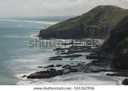 New Zealand coastline - stock photo