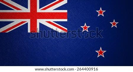 New Zealand flag leather texture - stock photo