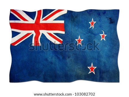 New Zealand Flag made of Paper - stock photo