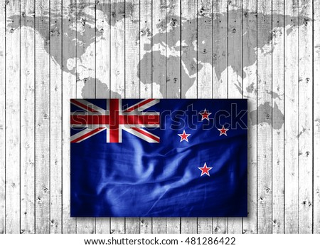 New zealand flag grunge fabricworld map stock illustration 481286422 new zealand flag of grunge fabricworld map and wood background 3d illustration gumiabroncs Image collections