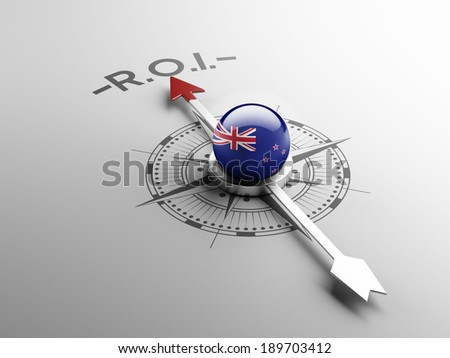 New Zealand High Resolution ROI Concept - stock photo