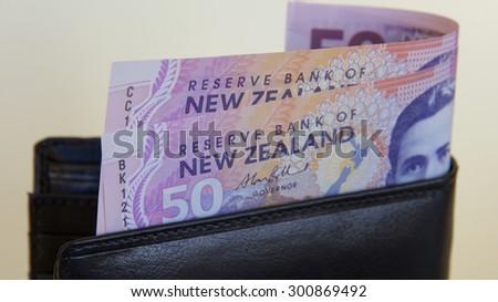 New Zealand Money - stock photo