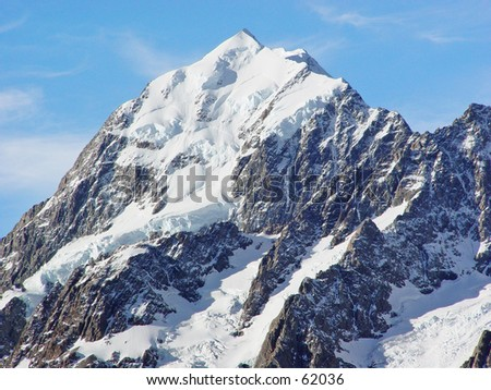 New Zealand mount cook - stock photo