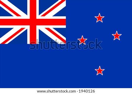 New Zealand national flag - stock photo