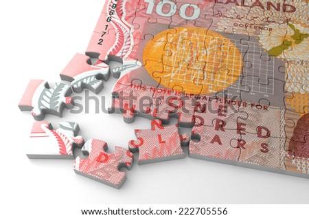 New Zealand Puzzle - stock photo
