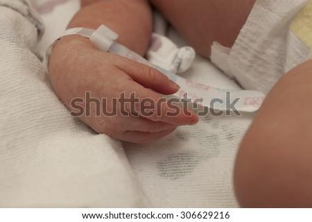 Newborn Baby Hand - stock photo