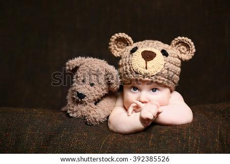 newborn boy - stock photo