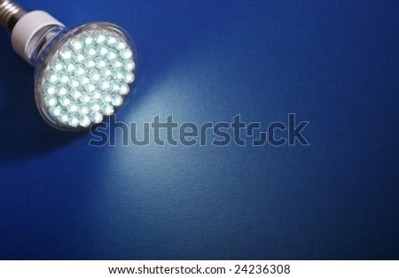Newest LED light bulb - stock photo