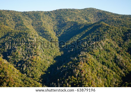 Newfound Gap mountain overlook