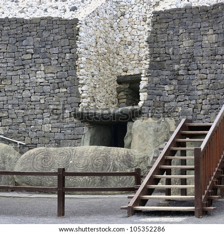 Newgrange in the Boyne Valley is a 5000 year old Passage Tomb. Co. Meath, Ireland - stock photo