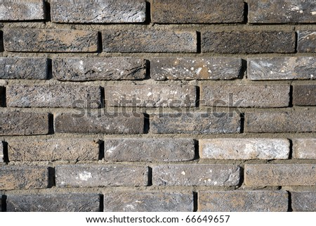 Newly build Brick wall - stock photo