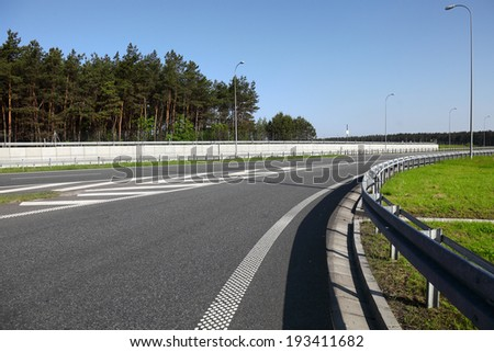 Newly built highway  - stock photo