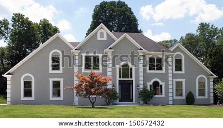 Newly Constructed Luxury Home - stock photo