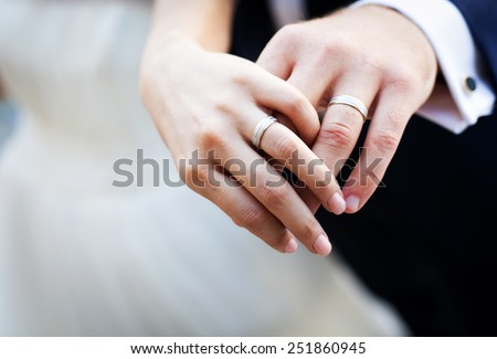 Wedding ring pictures with hands up