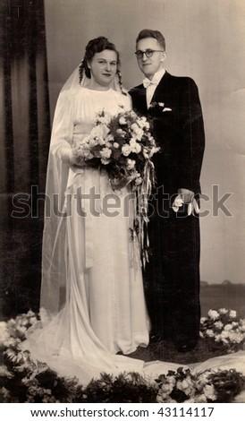 Newlyweds (1948) - stock photo