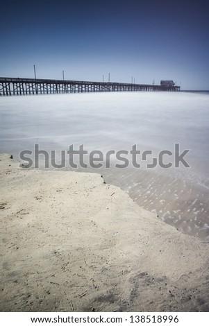Newport Beach Pier - stock photo