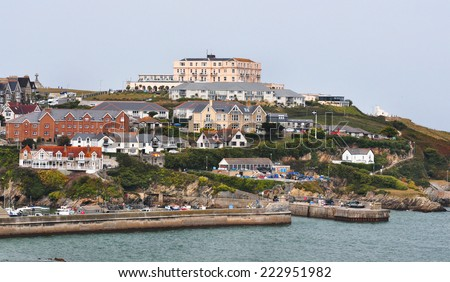 Newquay Harbour Entrance  - stock photo