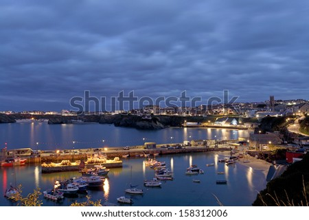 Newquay Harbour in Cornwall South West UK - stock photo