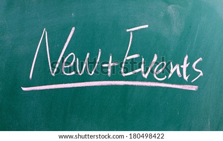 News and Events  - stock photo