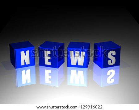 news background - three dimentional image - stock photo