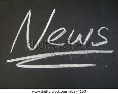 news blackboard - stock photo