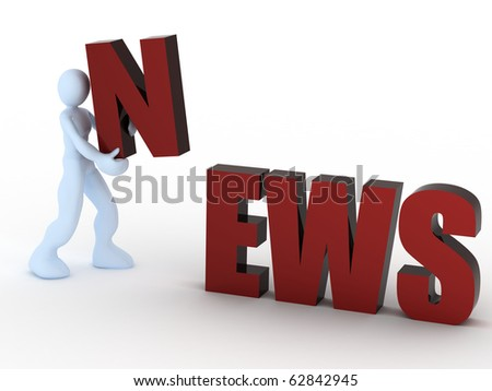 news concept - stock photo