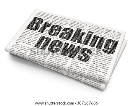 News concept: Breaking News on Newspaper background - stock photo