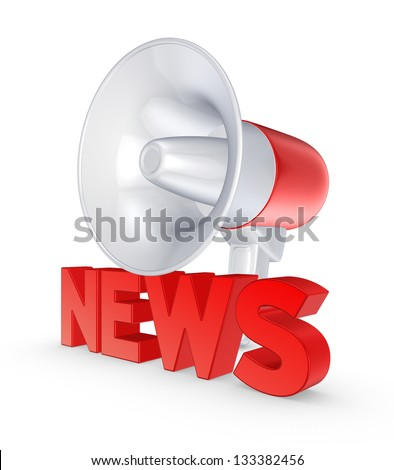News concept.Isolated on white.3d rendered. - stock photo
