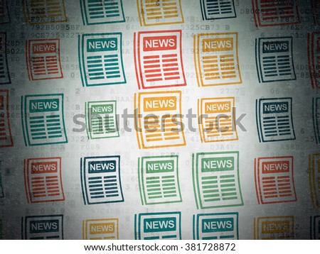 News concept: Newspaper icons on Digital Paper background - stock photo