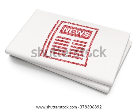 News concept: Newspaper on Blank Newspaper background - stock photo