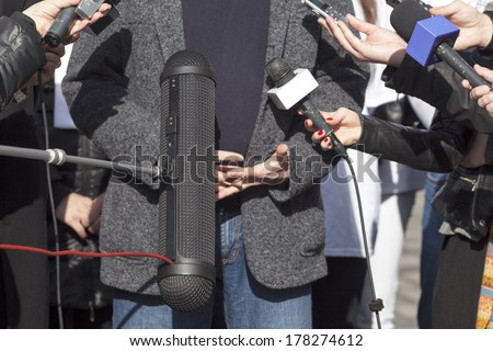 News conference - stock photo