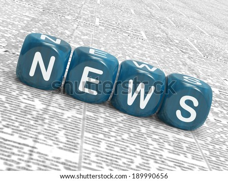 News Dice Meaning Reporting Media And Bulletin - stock photo