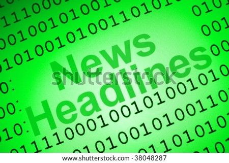 News Headlines cover page - stock photo