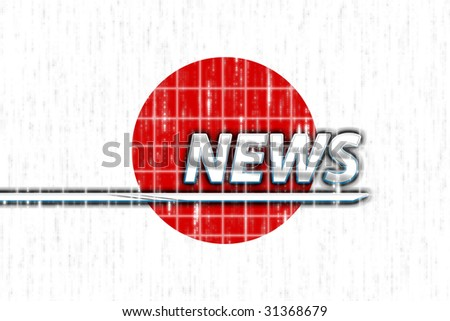 News information splash Flag of Japan, national country symbol illustration