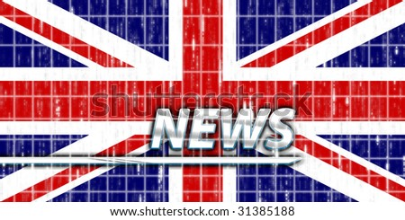 News information splash Flag of United Kingdom, national country symbol illustration