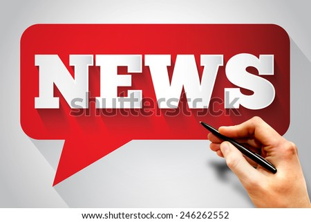 NEWS message bubble, business concept - stock photo