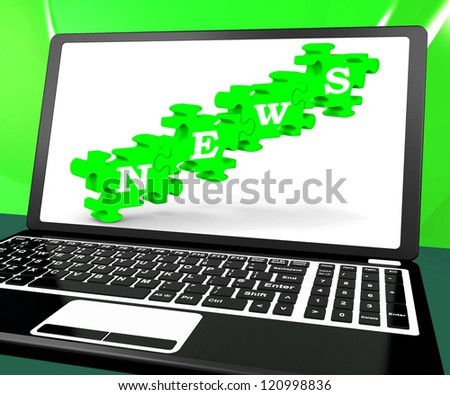 News On Laptop Shows Newsletters And Online Journalism