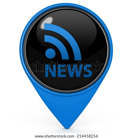 News pointer icon on white background
