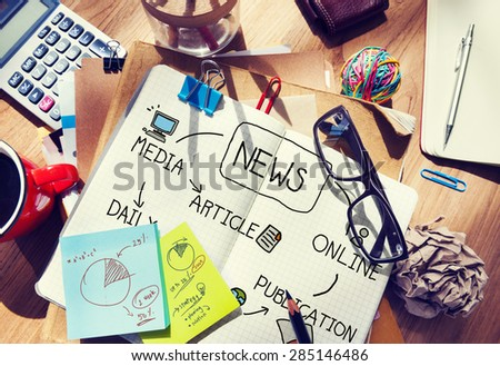 News Publication Online Article Media Concept - stock photo
