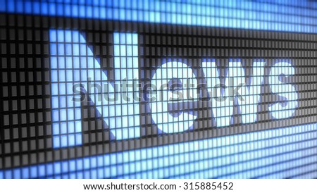 News sign - stock photo