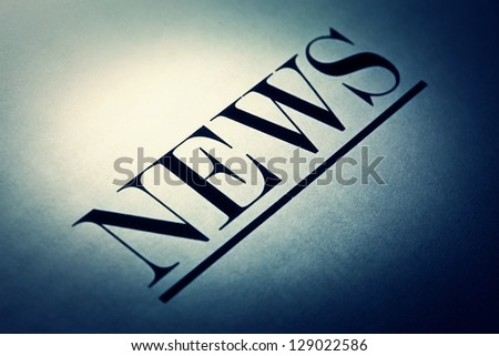 News text in grunge style. Selective focus. - stock photo