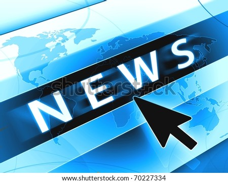 news white blue concept illustration background and computer arrow