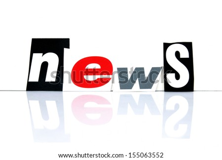 News with newspaper letters - stock photo