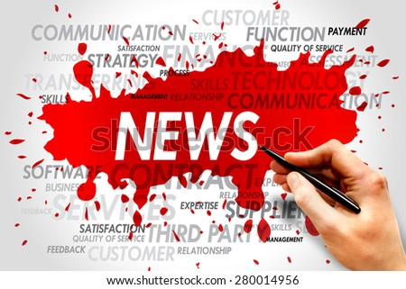 News word cloud, business concept - stock photo