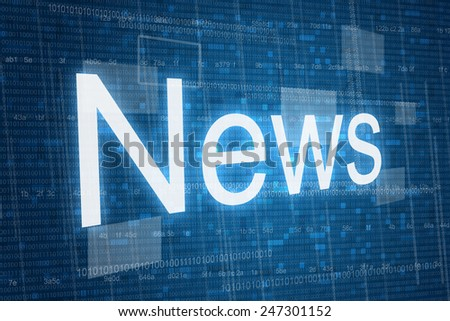 News word on digital background  - stock photo