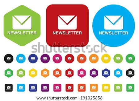 newsletter icon - stock photo