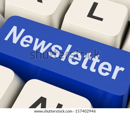 Newsletter Key Showing News Letter Or Online Correspondence